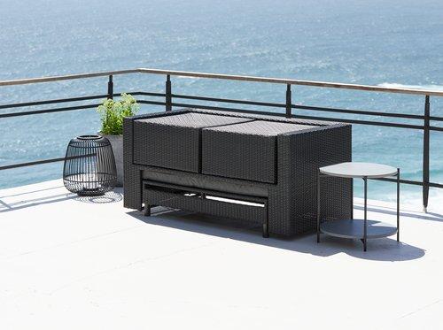 Vrtni lounge komplet TANE 4 osebe črna
