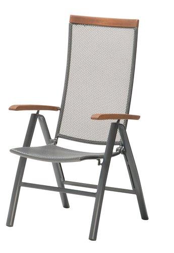 Nastavljiv stol LARVIK siva