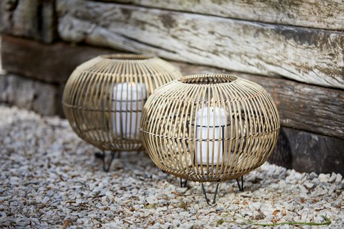 Latarnia EGEHJORT Ś32xW26 bambus