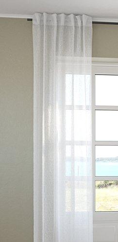 Gordijn UNNEN 1x140x300 wit linnenlook