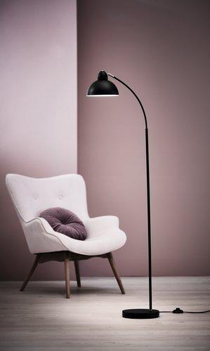 Podna lampa HUGO H154cm crna