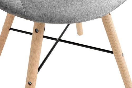 Fotelja KAPPEL tamno siva/boja hrasta