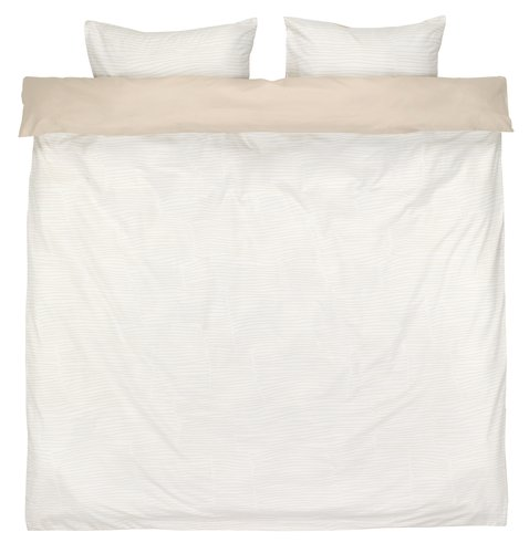 Bedding set ANDREA KNG sand/white