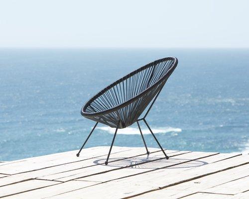 Lounge stolica UBBERUP crna