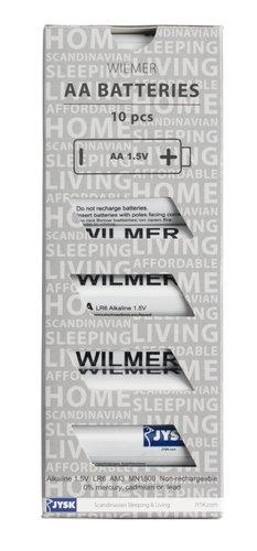 Batterier WILMER AA 10 stk/pk