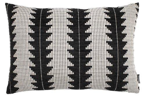 Подушка SKOGSIV 40x60см чорний/білий