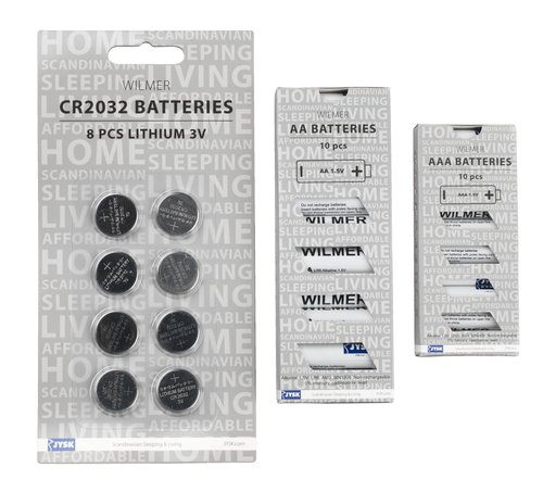Batteries WILMER CR2032 8 pack
