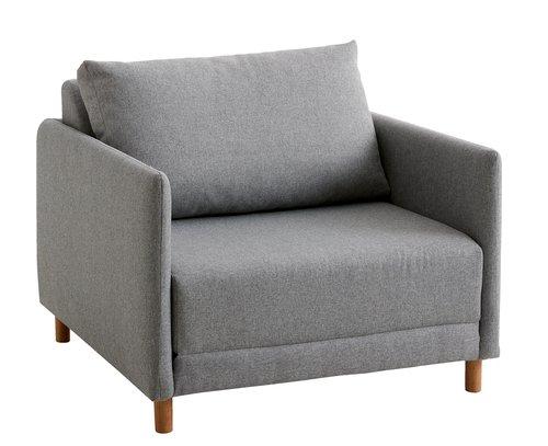 Fotelja na razvlačenje NORODDEN svj.siva
