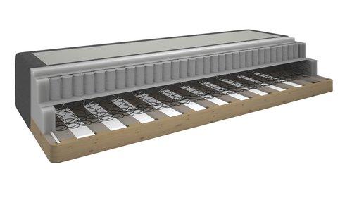Madras 140x200 box HØIE 150 grå