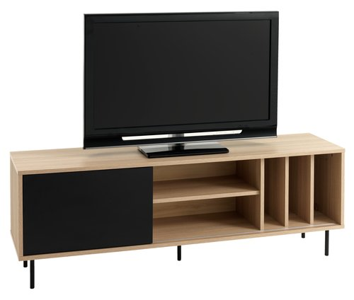 TV bench FARSUND oak/black