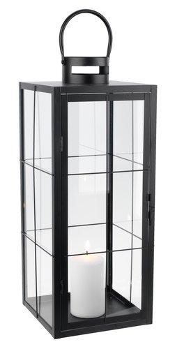 Lantaarn VILLADS B20xL20xH50cm zwart