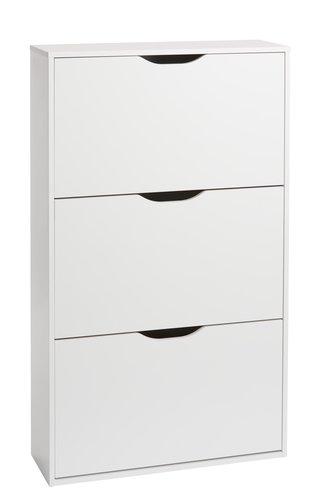 Shoe cabinet IDSKOV 3 compartments white