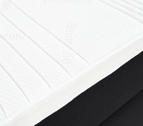 Boxspring 90x200 DUNLOPILLO 300 zwart