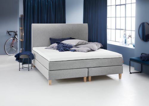 Sänggavel 160x125 H30 CURVE grå-27
