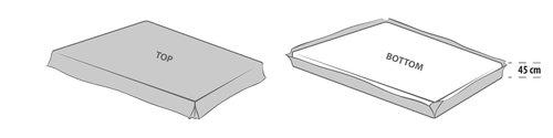 Valance sheet SKNG grey KRONBORG