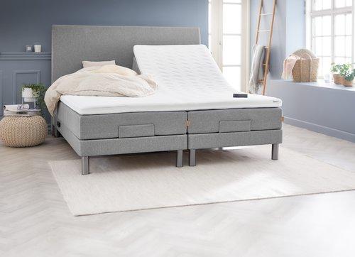 Sänggavel 180x125 H30 svängd grå-27