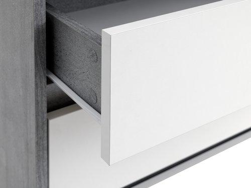 Συρταριέρα 3 συρτ.BILLUND λευκό/όψη τσιμ