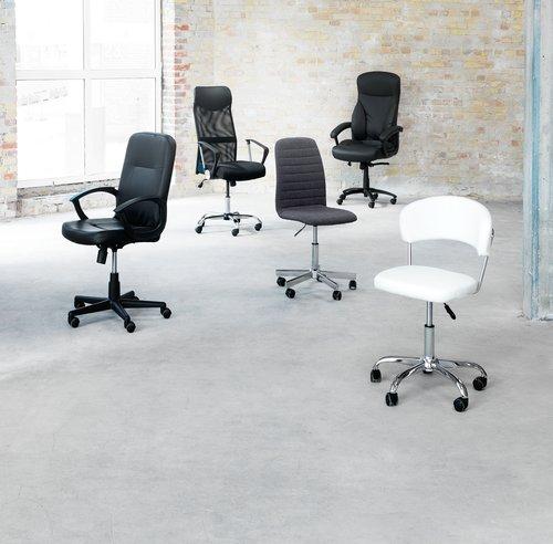Office chair ABILDHOLT dark grey/chrome