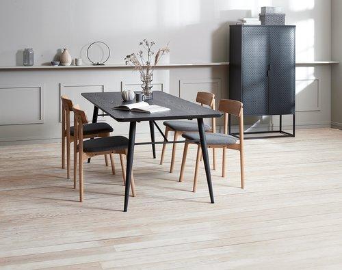 Spisebordsstol EGELUND eg/lysegrå