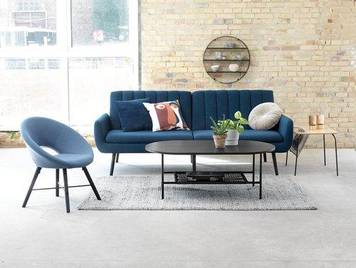 Fotelja KAPPEL plava/crna
