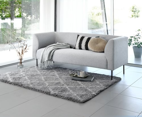 Soffa KARE 3-sits ljusgrå