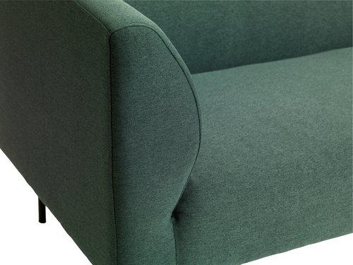 Sofa m/sjeselong KARE høyre mørk grønn