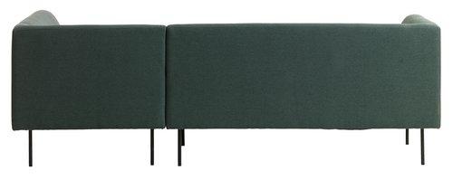 Καναπές με σεζλόνγκ KARE δεξ. σκ.πράσινο