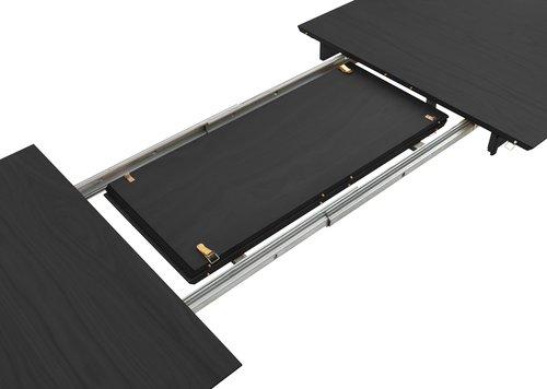 Matbord EGENS 90x190/270 svart
