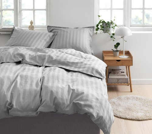 Duvet cover NELL Sateen KNG grey
