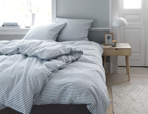 Bedding set VIDA KNG blue/white