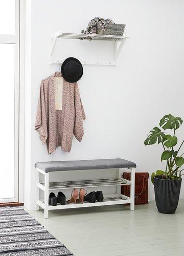 Hallway shelf EGESKOV metal/white