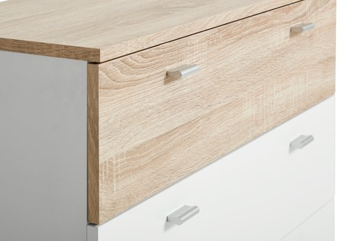 4 drawer chest BELLE white/oak