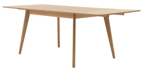 Dining table KALBY 90x130/220 light oak