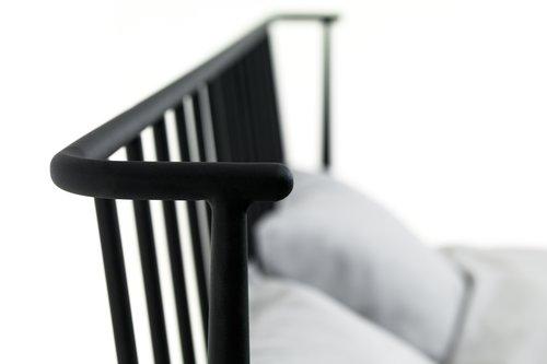Bedframe ABILDRO 150x200 zwart