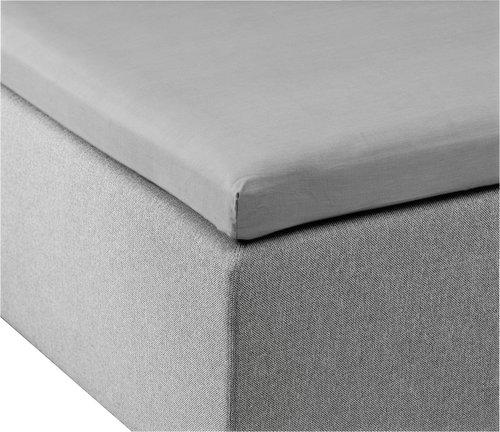 Overmadrasslaken 150x200x6-10 lys grå