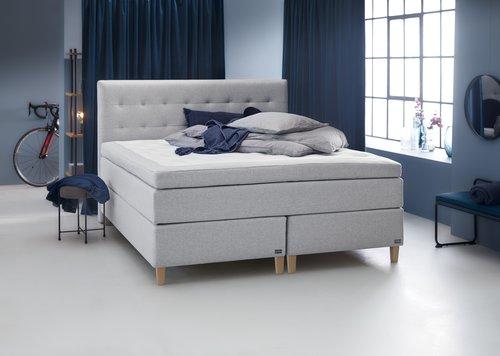 Sänggavel 180x125 H50 STITCHED grå-32