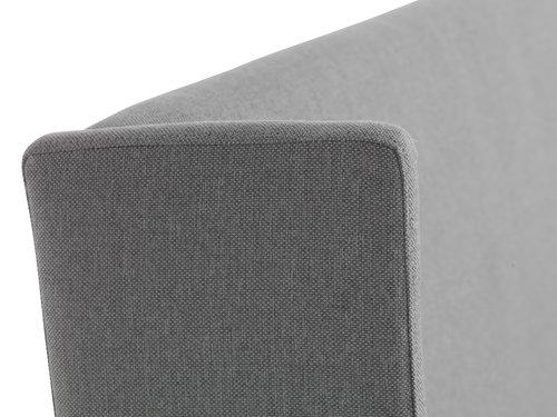 Sengeramme KUNGSHAMN 180x200cm lys grå