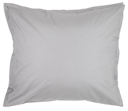Kussensloop percal 60x63/70 licht grijs