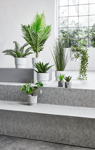 Kunstig plante GODSKE Ø18xH75cm ass.