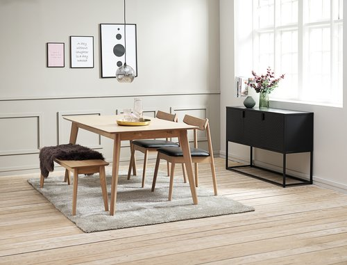 Sideboard VIRUM 3 door black