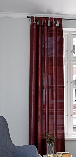 Фіранка LUPIN 1х140x300 шт.шовк бордо