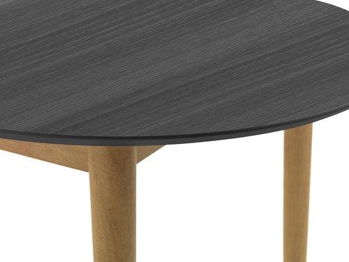 Spisebord EGENS 90x190/270 svart