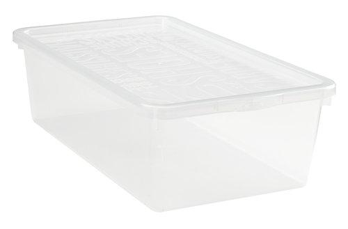 Shoe organizer BASIC BOX w/lid clear