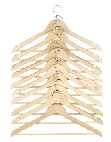 Hangers SIGFRID wood 10 pack