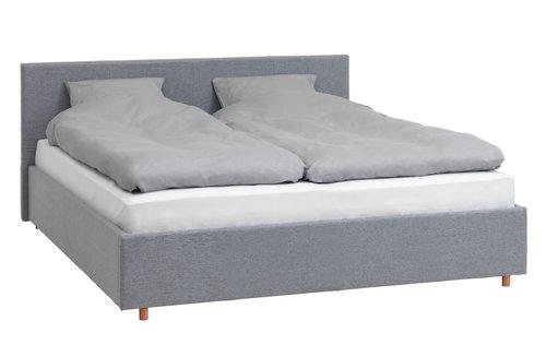 Okvir kreveta EGERSUND 160x200 sv.siva