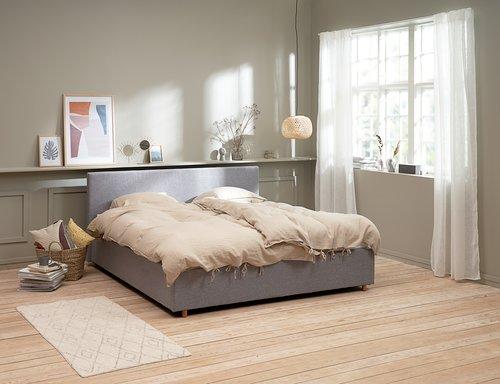 Ram kreveta EGERSUND 160x200 sv.siva