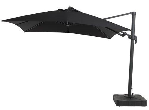 Висящ чадър KERTEMINDE Ш300xД300 черен