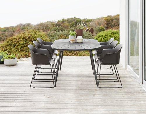Asztal FURUSET SZ102xH195 fekete
