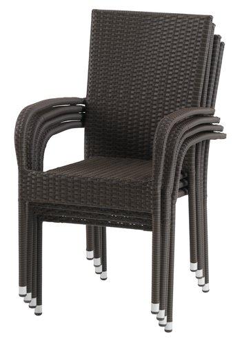 Καρέκλα στοιβαζ. GUDHJEM καφέ