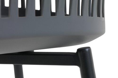 Stolica RAVNEBAKKE siva